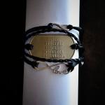 bransoletka czarna love   nieskończoność