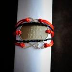bransoletka czerwona love   nieskończoność