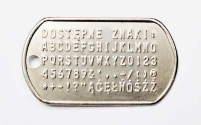 znaki na nieśmiertelniku Engrave